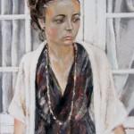 Portrait Mallory - Pastel sec par Isabelle Douzamy - 30x40 cm - 500€