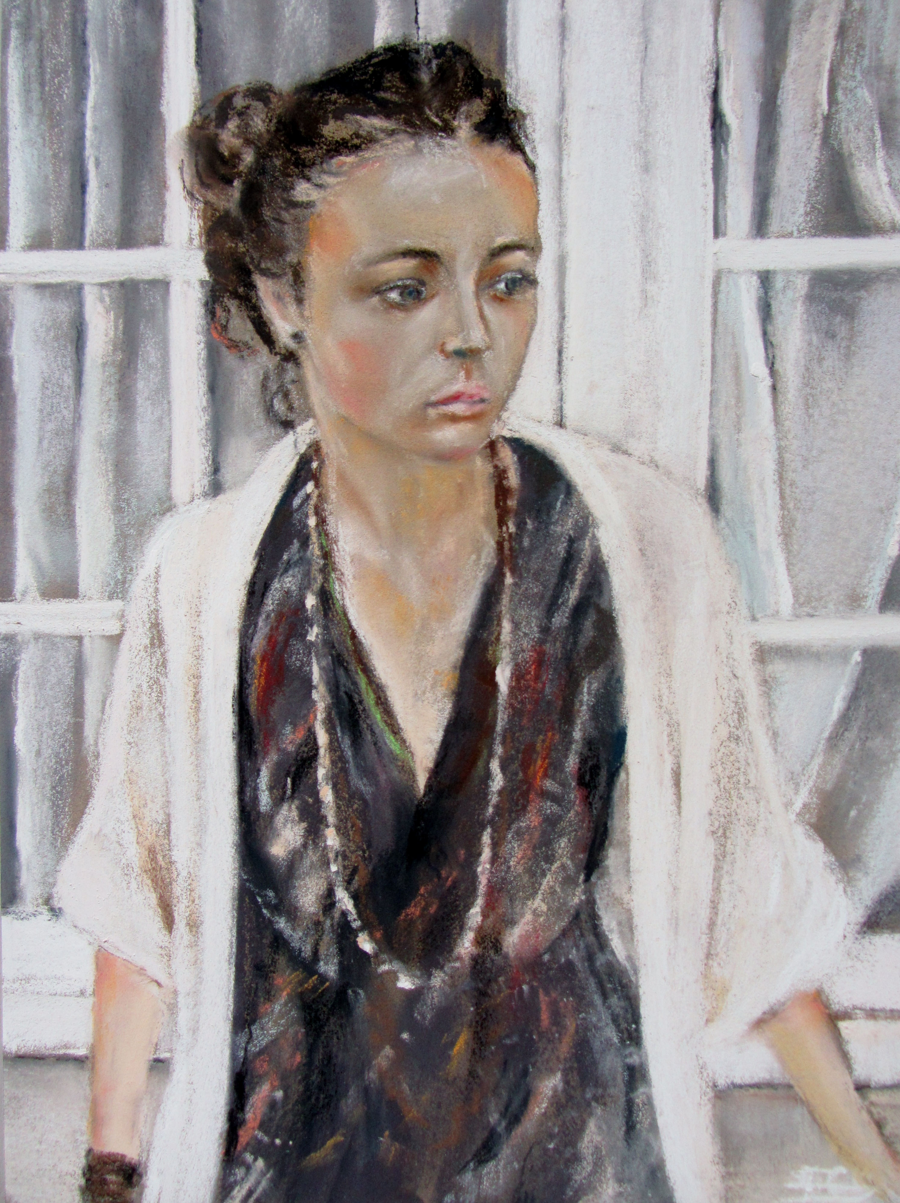 Portrait Mallory - Pastel sec par Isabelle Douzamy - 30x40 cm