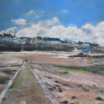 Saint-Malo - Peinture au pastel sec par Isabelle Douzamy - 50x65cm