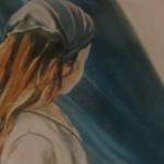 Les tentes à Saint-Cast - Peinture au pastel sec par Isabelle Douzamy - 50x65cm - Collection privée