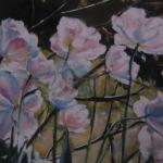 Les fleurs - Peinture au pastel sec par Isabelle Douzamy - 50x65cm - Collection privée