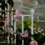 Ambiance de roses - Peinture au pastel sec par l'artiste peintre Isabelle Douzamy - 40x50 cm (encadré)