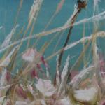 Ambiance florale à Malte - Peinture au pastel sec par l'artiste peintre Isabelle Douzamy - 17.5x42 et 30x57cm encadré - 300€