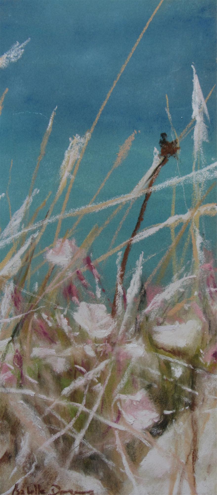 Ambiance florale à Malte - Peinture au pastel sec par l'artiste peintre Isabelle Douzamy - 17.5x42 et 30x57cm encadré