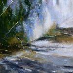 Ambiance glycine à Hénanbihen - Peinture au pastel sec par l'artiste peintre Isabelle Douzamy - 40x52 cm (encadré)