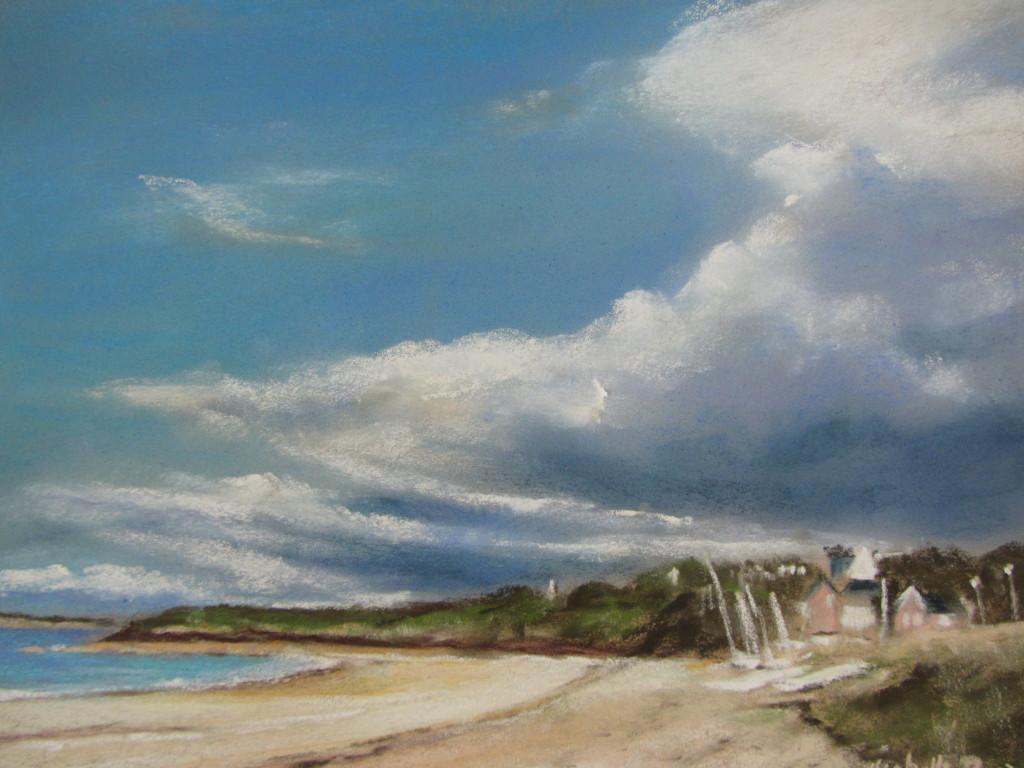 Ar Vro plage des Mielles Saint-Cast - Peinture au pastel sec - 30x40 cm - 500€