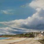 Ar Vro plage des Mielles Saint-Cast - Peinture au pastel sec - 30x40 cm