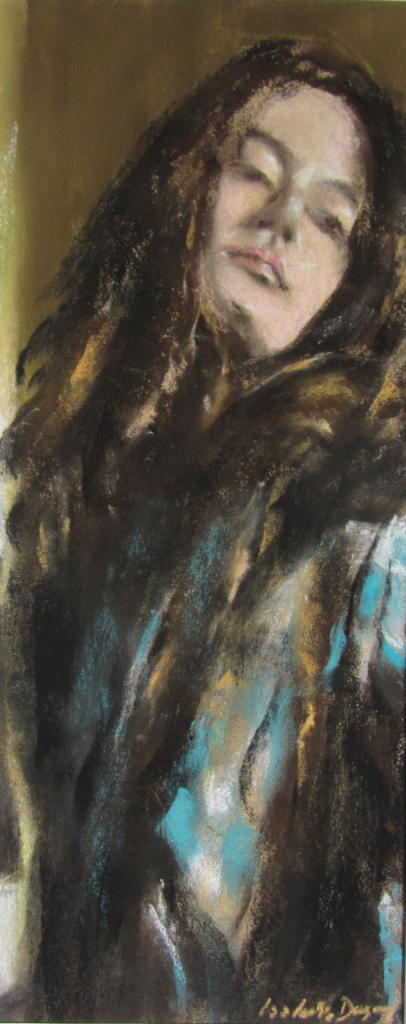 Atmosphère - Portrait peinture au pastel sec par Isabelle Douzamy - 17x42cm - Collection privée