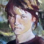 Autoportrait gros plan - Pastel sec par Isabelle Douzamy - Collection privée