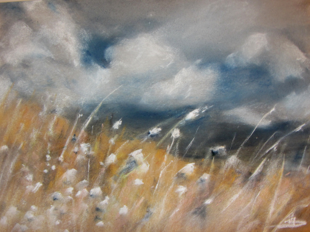 Avant l'orage - Peinture au pastel sec par Isabelle Douzamy - 30x40 cm