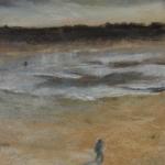 Balade à Pléneuf Val André - Peinture au pastel sec par Isabelle Douzamy - 17x42cm - 350€