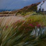 Cap d'Erquy GR34 - Peinture au pastel sec par l'artiste peintre Isabelle Douzamy - 40x50 cm (encadré)