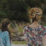 Complicité - Peinture au pastel sec par Isabelle Douzamy - 30x40cm