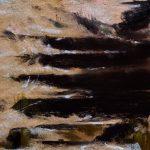 Descente des marches aux coquelicots à Saint-Jacut-de-la-Mer - Peinture au pastel sec par l'artiste peintre Isabelle Douzamy - 28x55 cm (encadré)