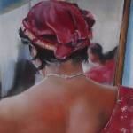 Dos nu - Peinture au pastel sec par Isabelle Douzamy
