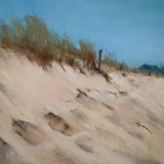 Dune aux Sables-d'Or-Les-Pins - Peinture au pastel sec par l'artiste peintre Isabelle Douzamy - 51x71 cm (encadré)