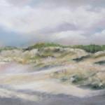 Dune de la plage du Vieux-Bourg - Peinture au pastel sec par Isabelle Douzamy - 30x40 cm - 500€