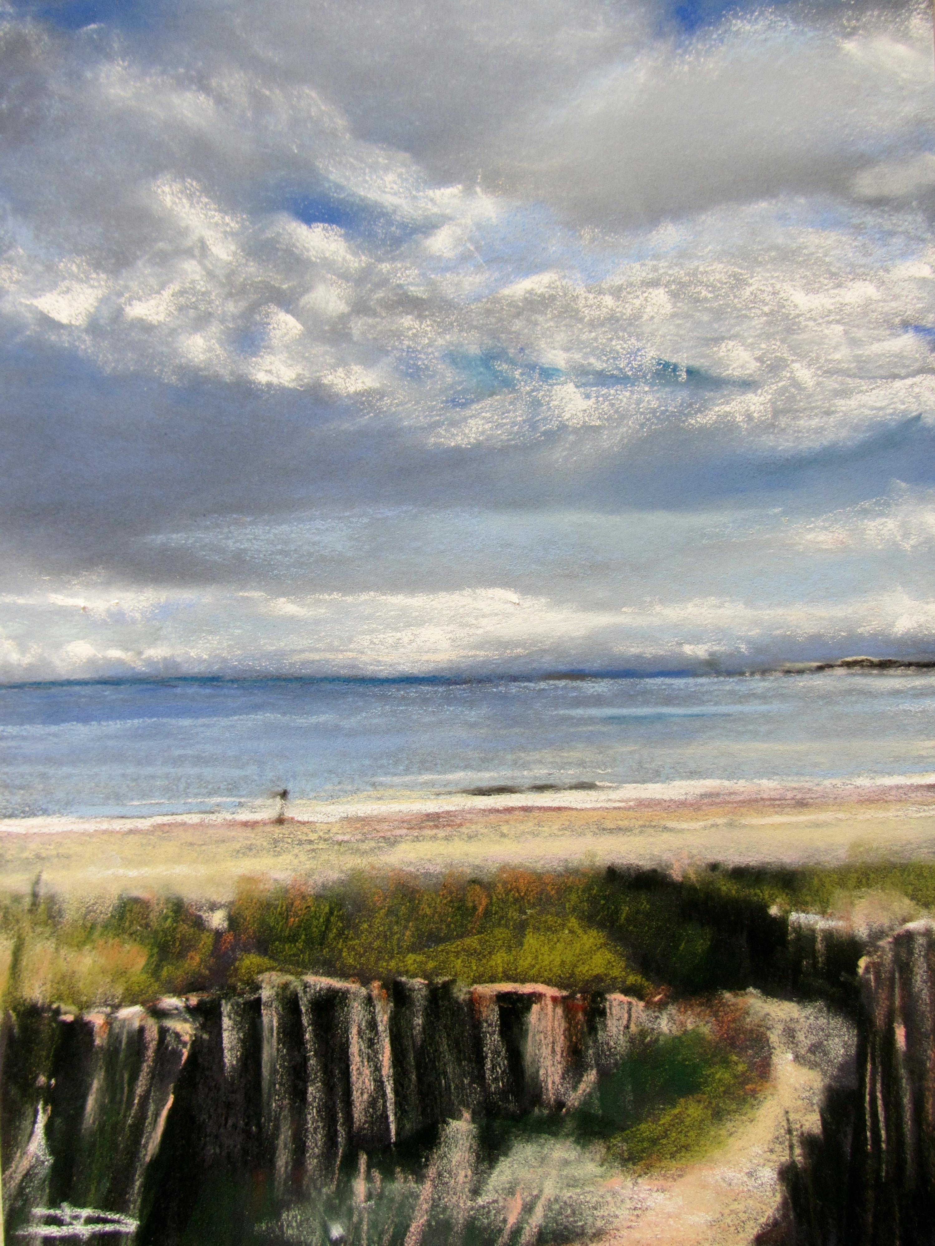 Dunes Saint-Cast Le Guildo - Pastel sec par Isabelle Douzamy - 30x40 cm