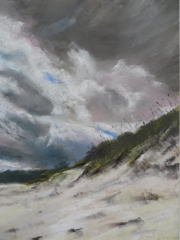 Dunes de Pen Guen - Peinture au pastel sec par Isabelle Douzamy - 40x50cm