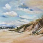 Dunes de la plage des Mielles - Pastel sec par Isabelle Douzamy - 39x59 cm - 650€