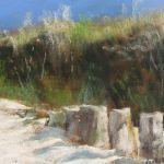 Dunes de la plage des Mielles à Saint-Cast - Peinture au pastel sec par Isabelle Douzamy - 30x40 cm