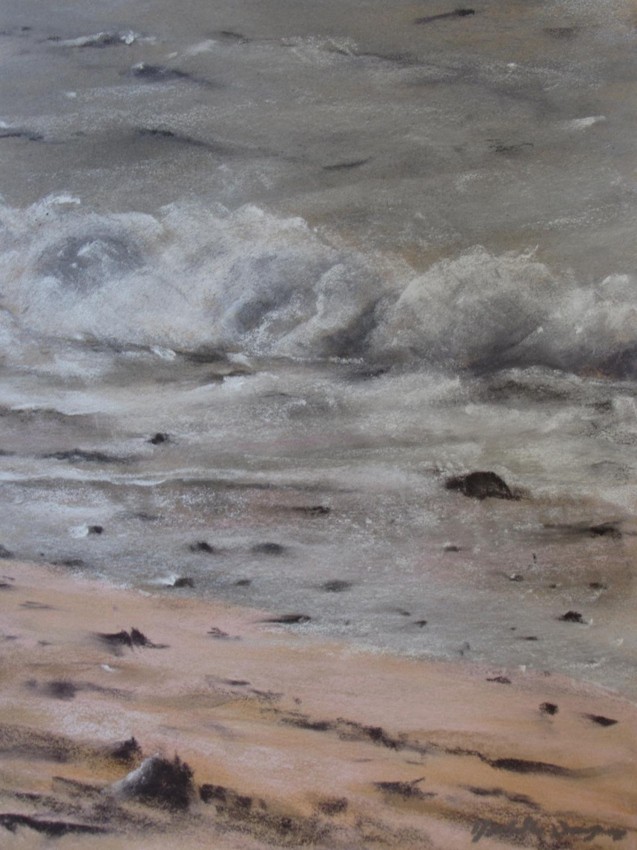 Le Sillon le soir - Peinture au pastel sec par Isabelle Douzamy - 39x49cm (50x70cm)