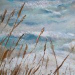 Envolée marine - Peinture au pastel sec par l'artiste peintre Isabelle Douzamy - 30x57 cm