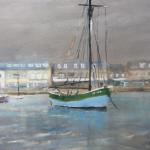 Erquy le port - Peinture au pastel sec par Isabelle Douzamy - 59x39 cm - 700€
