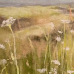 Fleurs sauvages - Peinture au pastel sec par l'artiste peintre Isabelle Douzamy - 17.5x42 et 30x57cm encadré - 300€