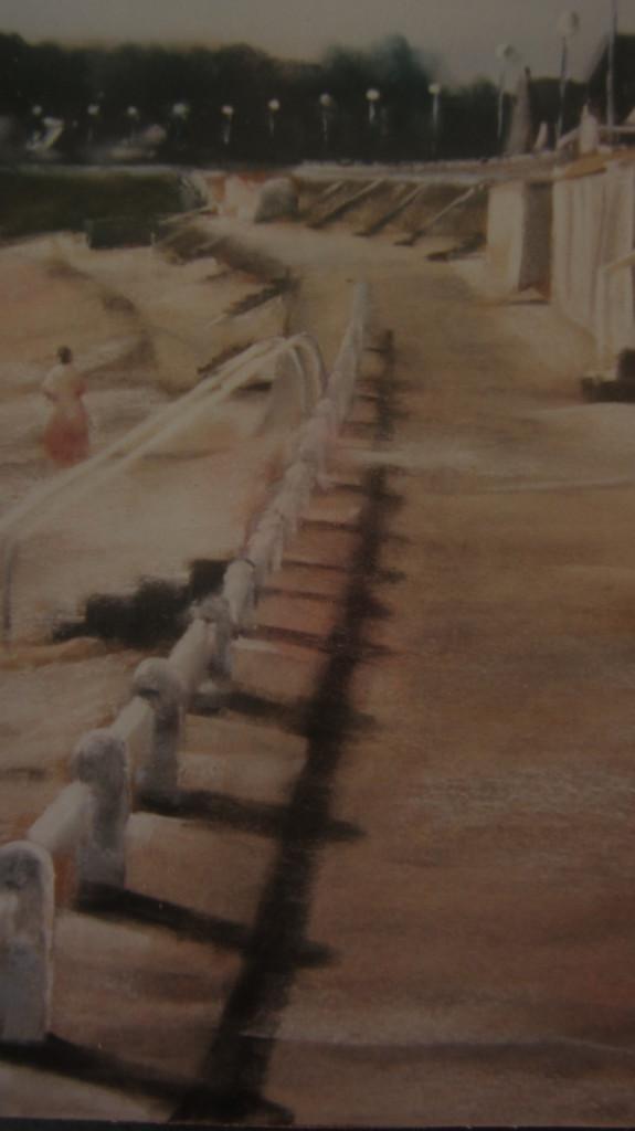 Promenade Saint-Cast - Peinture au pastel sec par Isabelle Douzamy - Collection privée