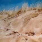 La dune - Peinture au pastel sec par l'artiste peintre Isabelle Douzamy - 40x50 cm (encadré)