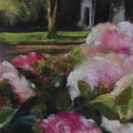La maison aux Hortensias - Peinture au pastel sec par Isabelle Douzamy - 30x40cm