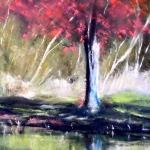 L'arbre - Peinture au pastel sec par l'artiste peintre Isabelle Douzamy - 40x50 cm (encadré)