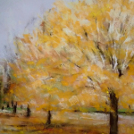 L'automne - Peinture au pastel sec par l'artiste peintre Isabelle Douzamy - 40x50 cm encadré
