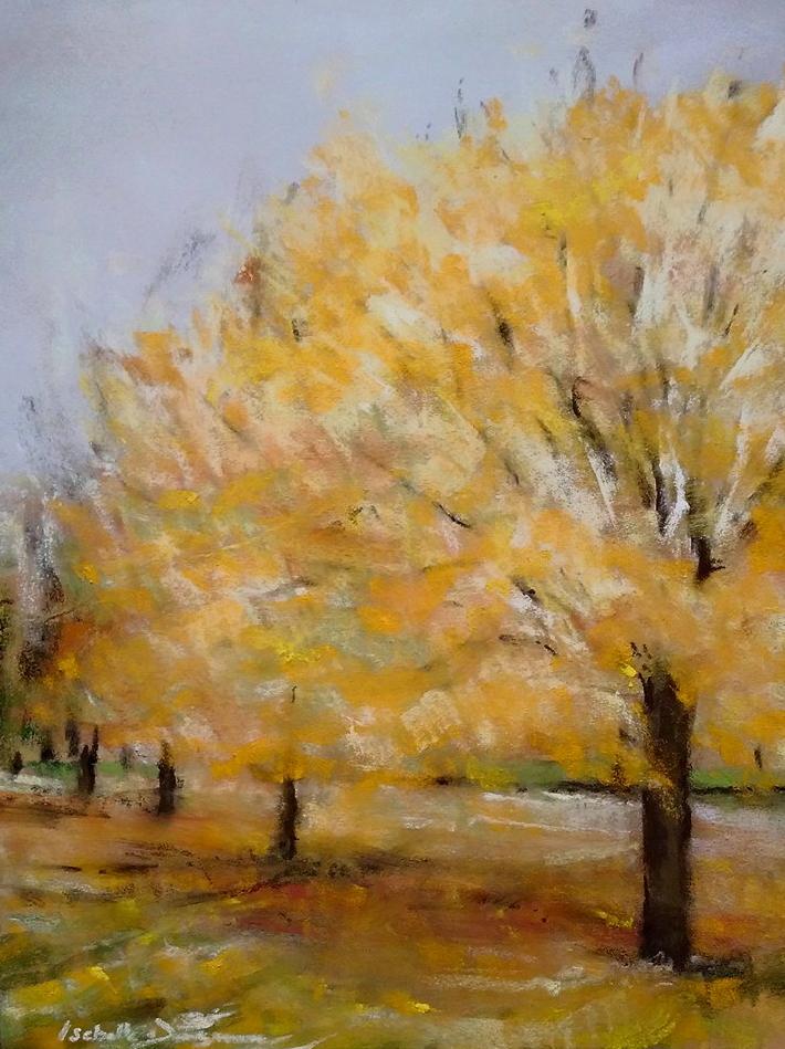 L'automne - (Pastel 40 x 50cm) par l'artiste peintre Isabelle Douzamy - 400€