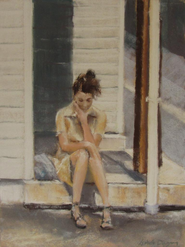 Le Dilemme - Peinture au pastel sec par Isabelle Douzamy - 30x40cm - 450€