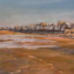 Le Sillon le soir - Peinture au pastel sec par Isabelle Douzamy - 39x49cm (50x70cm) - 500€