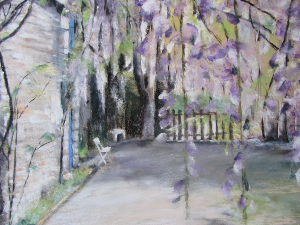 Le jardin - Pastel sec par Isabelle Douzamy - 50x65 cm - 950€