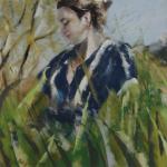 Le printemps - Peinture au pastel sec par Isabelle Douzamy - 29x29cm - 50x50cm - Collection privée