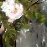 Les Roses - Pastel sec par l'artiste peintre Isabelle Douzamy - 17.5x41.5 cm