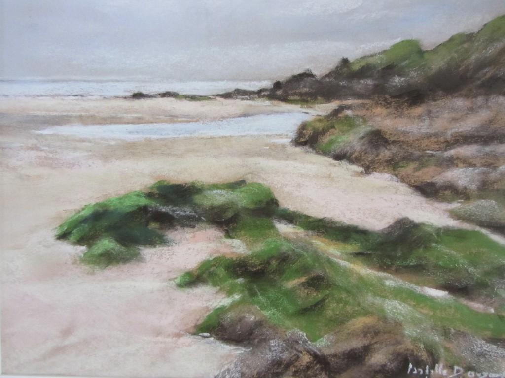 Pastel sec - Les algues plage du Petit Minou