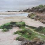 Les Algues Plage du Petit Minou Plouzané - Peinture au pastel sec 30x40 cm
