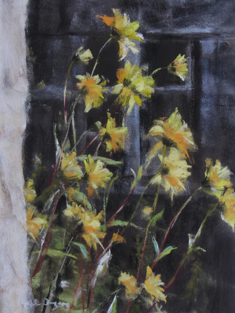 Les Fleurs - Peinture au pastel sec par Isabelle Douzamy - 40x50cm - 400€