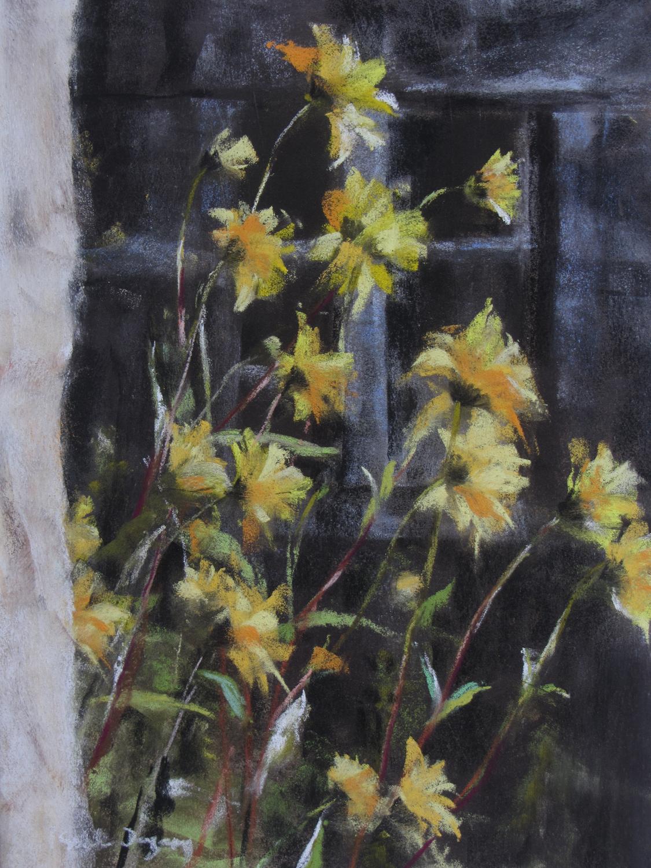 Les Fleurs - Peinture au pastel sec par Isabelle Douzamy - 40x50cm