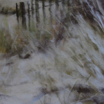 Les herbes folles - Peinture au pastel sec par Isabelle Douzamy - 40x50cm