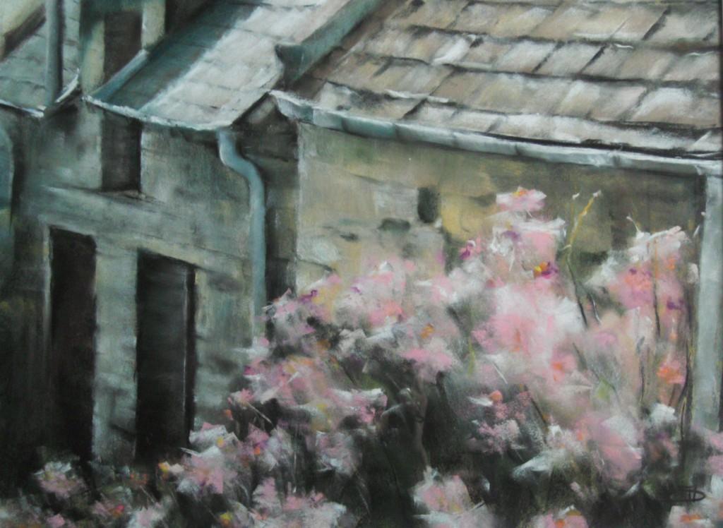 Les toits - Pastel sec par Isabelle Douzamy - 50x65cm - Collection privée