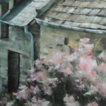 Les toits - Pastel sec par Isabelle Douzamy - 50x65cm