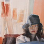 Mallo - Portrait au Pastel sec par Isabelle Douzamy - 40x50cm