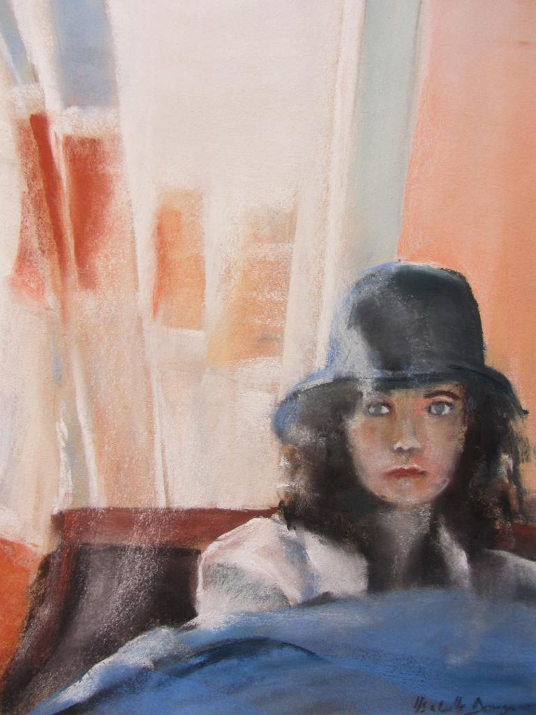 Mallo - Portrait au Pastel sec par Isabelle Douzamy - 40x50cm - 400€