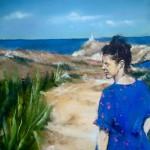 Mallory à Malte - Peinture au pastel sec par L'artiste peintre Isabelle Douzamy - 40x50 cm (encadré)